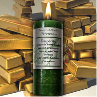 Prosperity Affirmation Candle