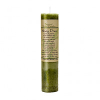 Money Draw Blessed Herbal Candle