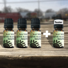 Sacred White Sage World Oil Tester Set