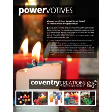 Power Votive Sign Point of Purchase