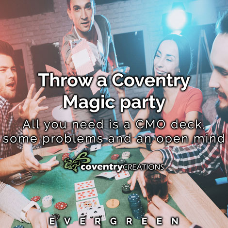 Throw a Coventry Magic party Evergreen blog